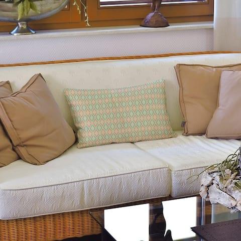 Full Color Arrow Diamonds Lumbar Pillow