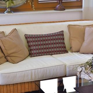 Classic Lined Diamonds Lumbar Pillow