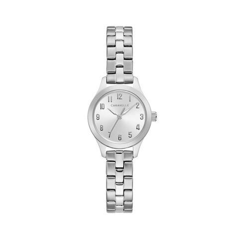 Caravelle Designed by Bulova Women's 43L209 Classic Silvertone Stainless Bracelet Watch