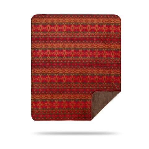 Denali Earth Spirit/Taupe Microplush Blanket