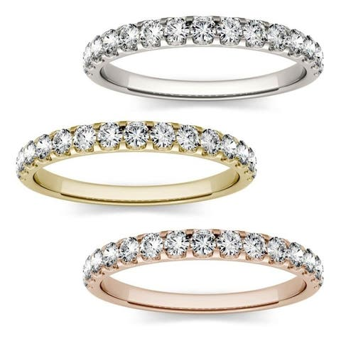 Moissanite by Charles & Colvard 14k Gold 1/2ct DEW Wedding Band