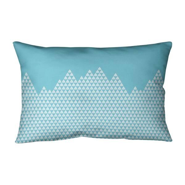 Mountain Pattern Lumbar Pillow On Sale Overstock 28416352
