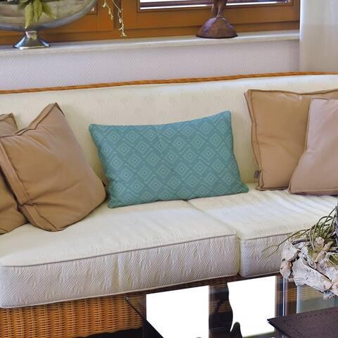 Square Maze Lumbar Pillow