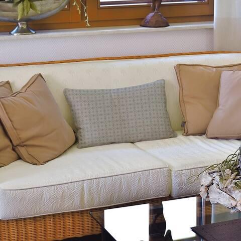Monochrome Doily Pattern Lumbar Pillow