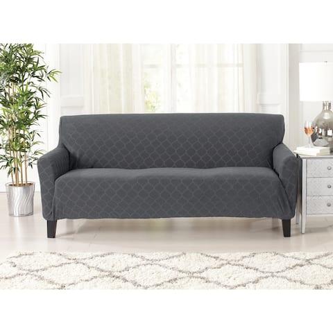 Soroya Geometric Jacquard Sofa Slipcover