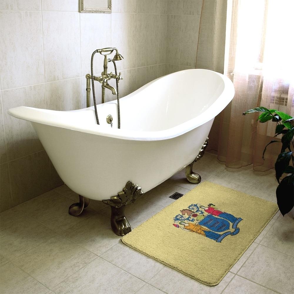 """Bath Rug 21/""""x34/"""" Beige//Gold Popular Bath Seraphina Bathroom"""