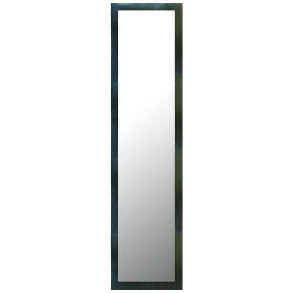 Framed Industrial 15X51 Plastic Mirror,BlacK,Rectangle - Black
