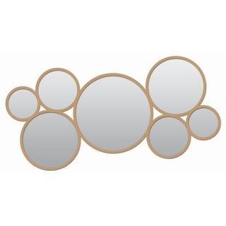 Link to Framed Decorative 15X33 Round Metal Mirror, Golden, Round - Antique Gold - 33X15 Similar Items in Mirrors