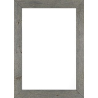 Framed Decorative 23X32 Gray Wash Real Wood Mirror,Gray,Rectangle - Grey
