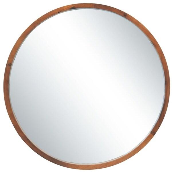 Carson Carrington Tallberg Round Mirror - Brown - Diameter:30