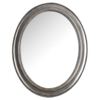 Framed Antique 24X30 Mirror Royal- Oval,Silver- Oxidized,Oval - Silver