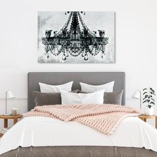 Oliver Gal 'Dramatic Entrance' Fashion and Glam Wall Art Canvas Print - Black, White