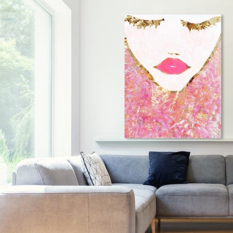 Oliver Gal 'Goldbloom Coveted' Fashion and Glam Wall Art Canvas Print - Pink, Gold