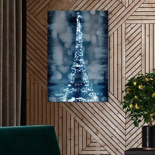 Oliver Gal 'Paris In Your Eyes' Cities and Skylines Wall Art Canvas Print - Blue, White