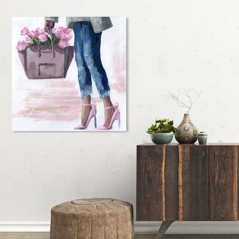 Oliver Gal 'Picks From The Market' Fashion and Glam Wall Art Canvas Print - Pink, Blue