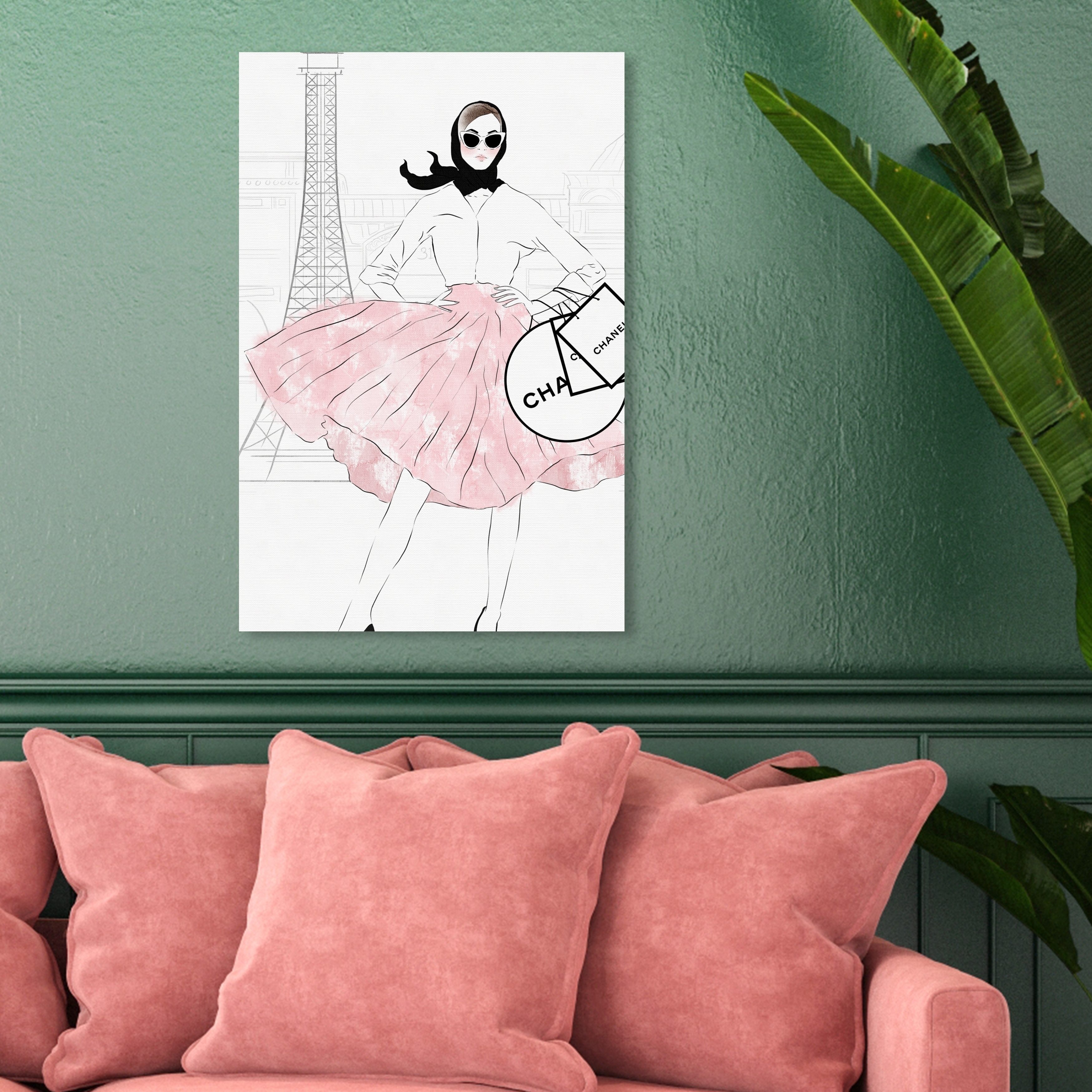 Shop Oliver Gal 'Shopping Look' Fashion and Glam Wall Art Canvas ...