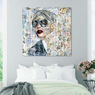 Oliver Gal 'Katy Hirschfeld - Galaxy' Fashion and Glam Wall Art Canvas Print - Blue, Red