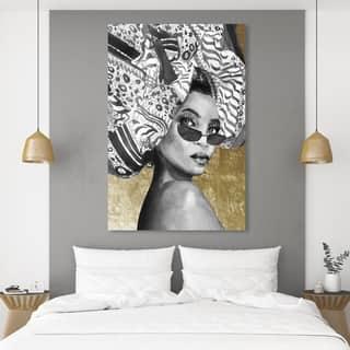 Silver Orchid 'Goddess of Tigris' Wall Art Canvas Print