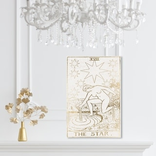 Oliver Gal 'The Star Tarot Luxe' Spiritual and Religious Wall Art Canvas Print - Gold, White