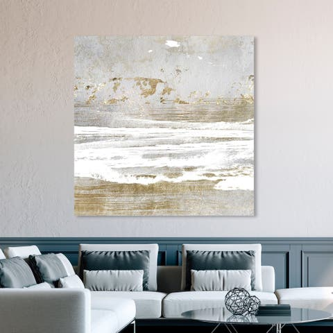 Oliver Gal 'Hopeful Romantic' Abstract Wall Art Canvas Print - Gold, Gray