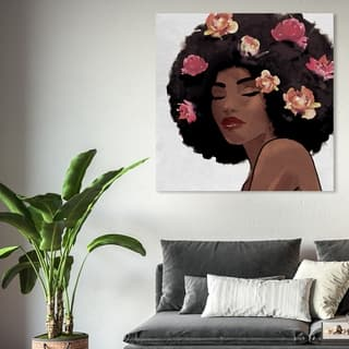 Oliver Gal 'Flowers to Inspire' Fashion and Glam Wall Art Canvas Print - Brown, White