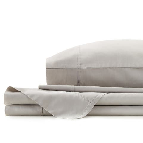 Gray Solid Queen Sheet Set