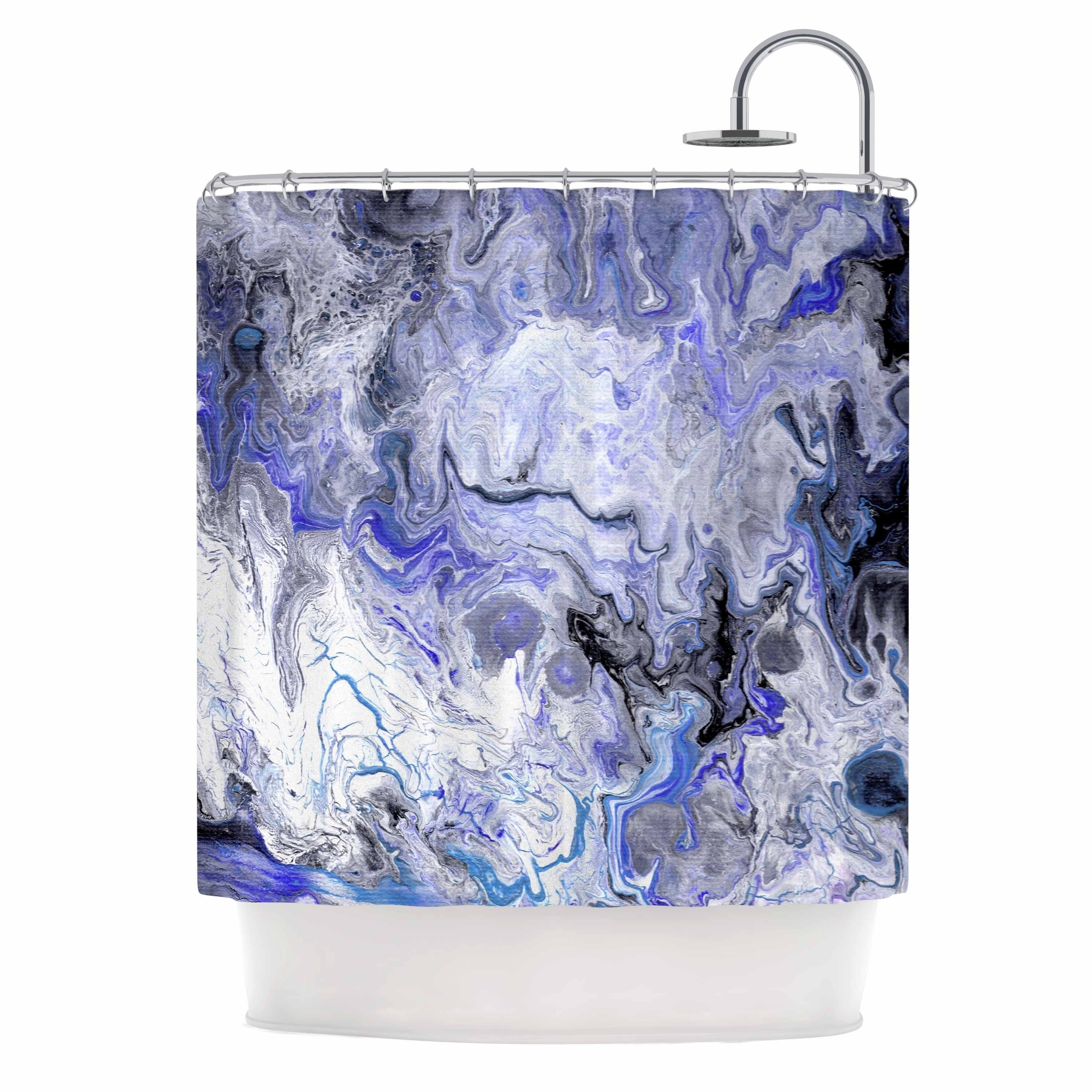 Catherine Holcombe Purple Marble Purple Black Abstract Geological Painting Shower Curtain On Sale Overstock 28417568