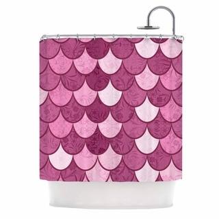 69 x 70 Shower Curtain Kess InHouse Tiny September Flamingo Pink Black Digital