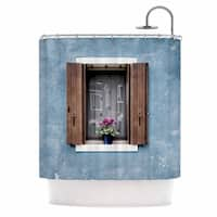 "Mary Carol Fitzgerald ""Open Window"" Teal Brown Photography Shower Curtain"