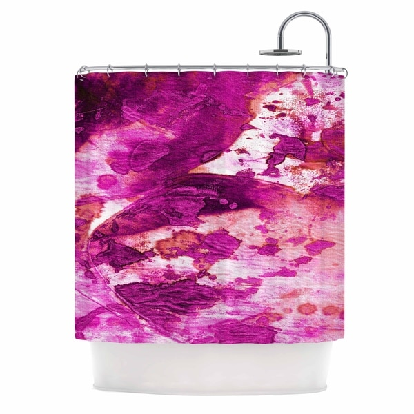 Outstanding Ebi Emporium Color Blots 4 Magenta Coral Painting Shower Curtain Home Interior And Landscaping Ologienasavecom