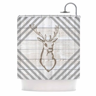 "NL Designs ""Wood Palette Deer"" Shower Curtain"