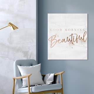 Silver Orchid 'Good Morning Beautiful Rose Gold' Wall Art Canvas Print
