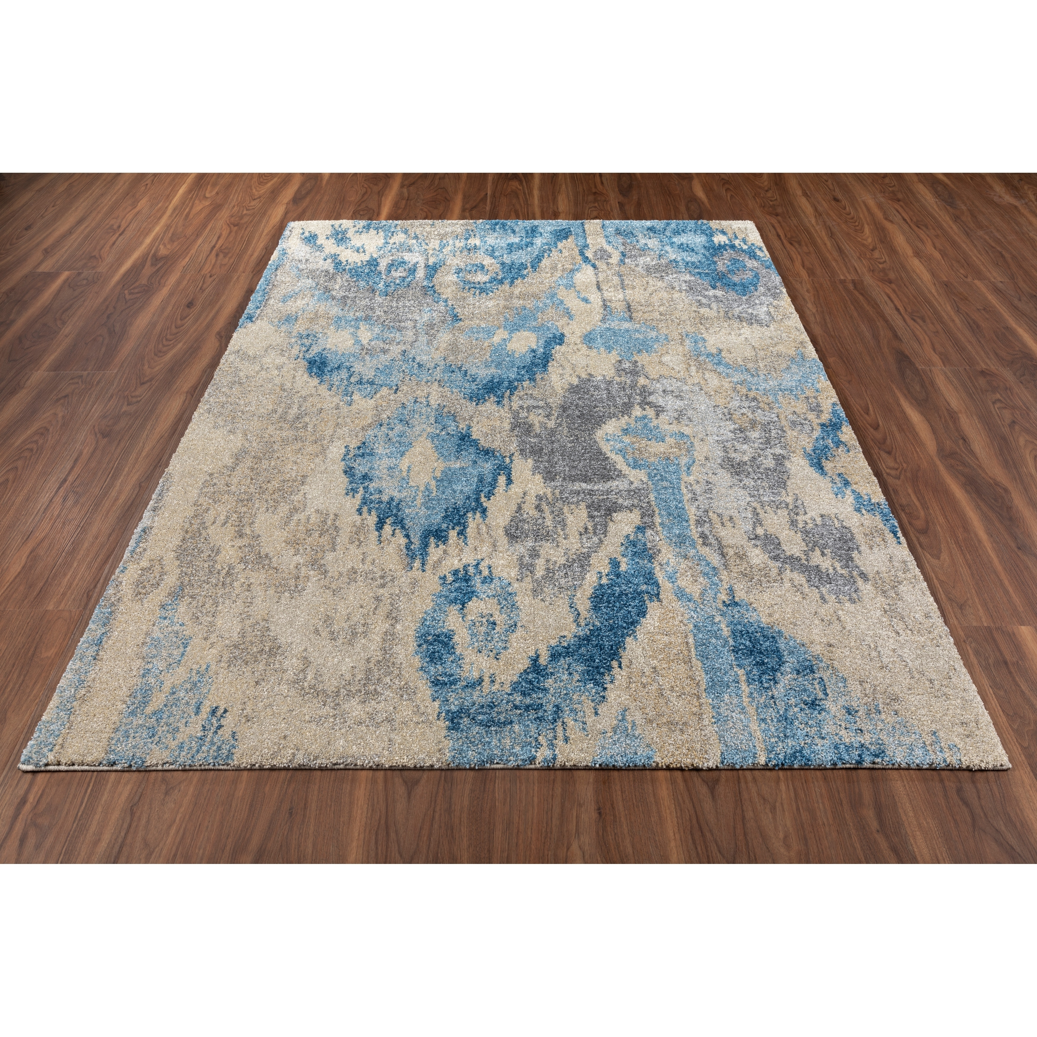 Addison Tobin Abstract Ikat Blue Area Rug Overstock 28420103 3 3 X5 3 Blue