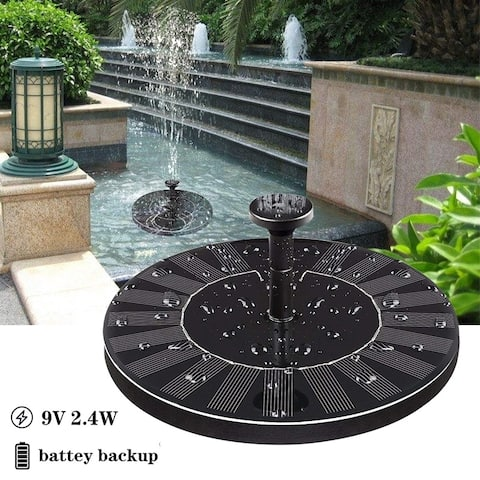 9V 2.4W Solar Fountain Solar Fountain Pump for Pond Pool Garden Fish with Battery Solar Panel Kit Water Pump Water Fountain Pump
