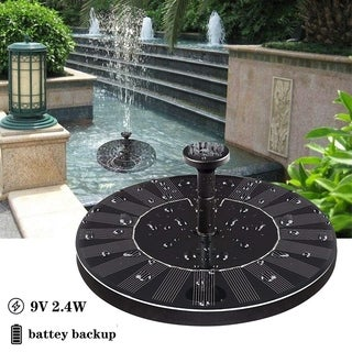 9V 2.4W Solar Fountain Solar Fountain Pump for Pond Pool Garden Fish with Battery Solar Panel Kit Water Pump Water Fountain Pump