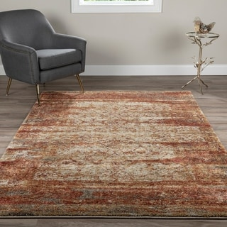Link to Addison Tobin Distressed Trellis Rust Area Rug Similar Items in Rugs