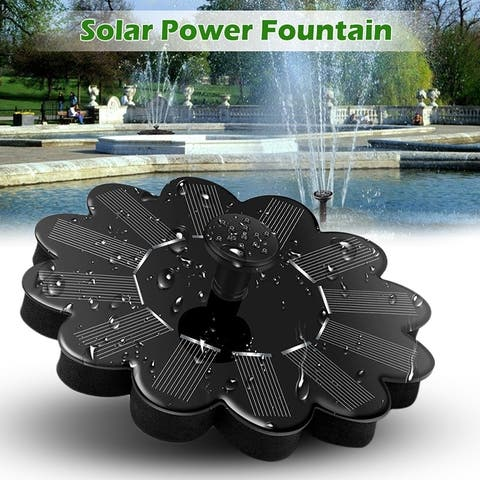 Solar Fountain Pump for Pond Pool Garden Fish Latest Solar Panel Kit Water Pump Water Fountain Pump with 4 Spray Pattern Heads