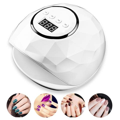 72W 24 LEDs UV Lamp Nail Gel Curing Machine Cable Mini Nail Lacquer Dryer Manicure Nail Polish Nursing Machine with Smart Sensor