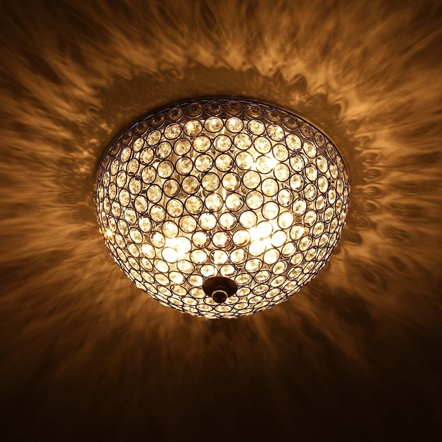 Co Z 2 Light Crystal Flush Mount Ceiling Light Fixture Overstock 28422695
