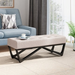 Link to Assisi Contemporary Fabric Ottoman Bench by Christopher Knight Home Similar Items in Living Room Furniture