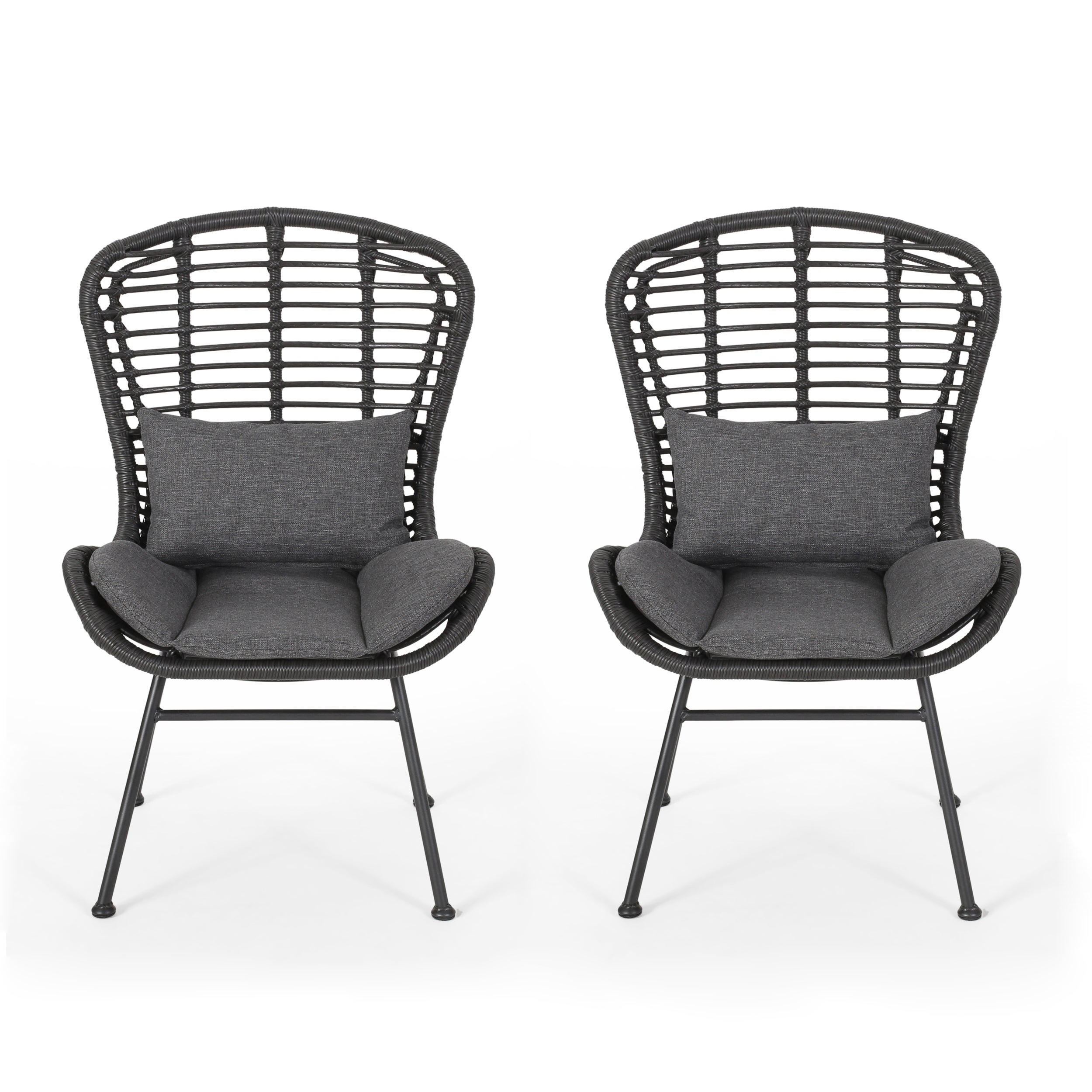 Remarkable La Habra Outdoor Wicker Club Chairs Set Of 2 By Christopher Knight Home Theyellowbook Wood Chair Design Ideas Theyellowbookinfo