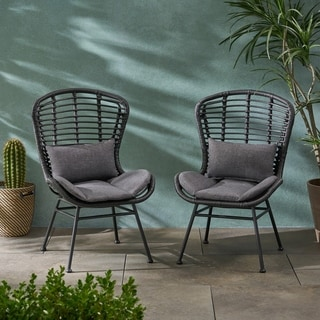 La Habra Outdoor Wicker Club Chairs (Set of 2) by Christopher Knight Home