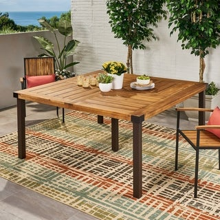 Lankershim Outdoor Acacia Wood Dining Table by Christopher Knight Home