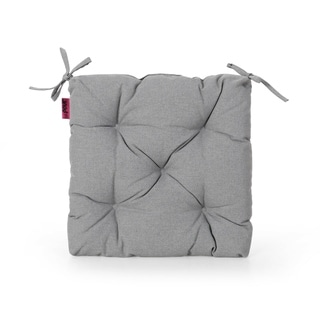 Navagio Outdoor Fabric Classic Tufted Chair Cushion in Navy by Christopher Knight Home (As Is Item)