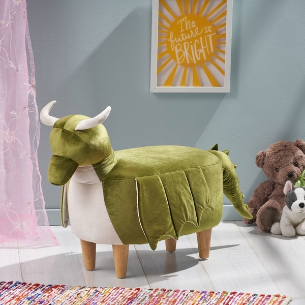 Spike Velvet Dragon Ottoman by Christopher Knight Home. Opens flyout.