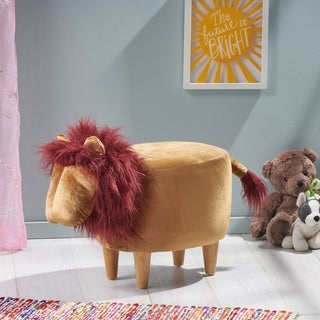 Link to Kingsbury Velvet Lion Ottoman by Christopher Knight Home Similar Items in Kids' & Toddler Furniture
