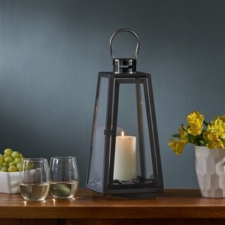 "Osprey Modern 15"" Stainless Steel Lantern by Christopher Knight Home"
