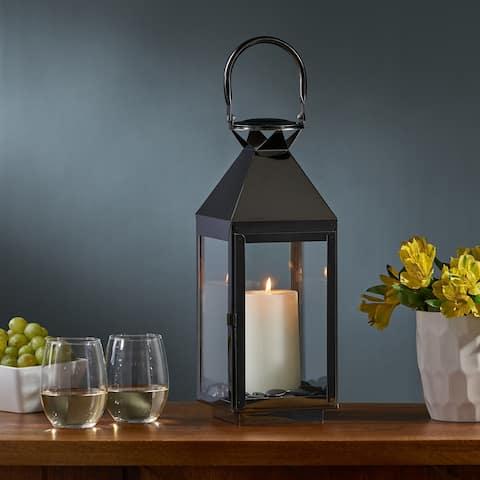 Kestrel Modern Stainless Steel Lantern by Christopher Knight Home