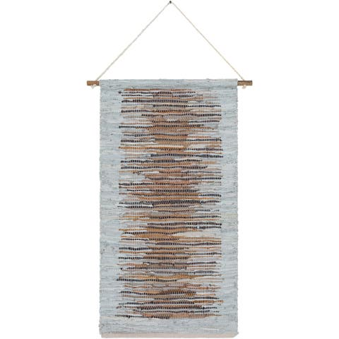 The Curated Nomad Woven Leather Tapestry