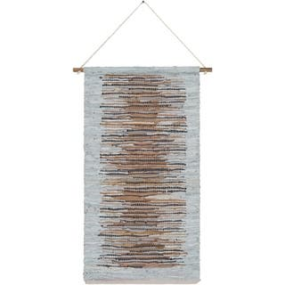 """The Curated Nomad Woven Leather Tapestry - 22"""" x 44"""""""